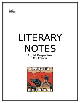 Literary Elements Notebook for All Grades
