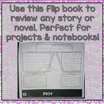 Literary Elements Novel Review Flipbook