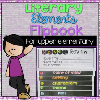 Literary Elements Novel Review Flipbook