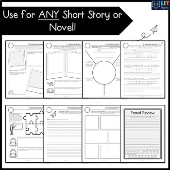 Literary Elements: Passport to Learning - Use for ANY Short Story or Novel