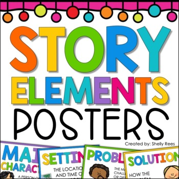 Story Elements Poster Set Character Setting Problem More By