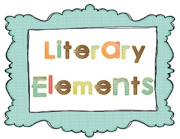 Literary Elements Poster Set Plot Setting Characters Point Of
