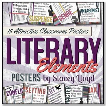 Literary Elements Posters By Stacey Lloyd Teachers Pay Teachers