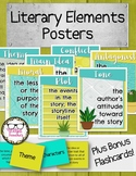 Literary Elements Posters & Flashcards Tribal Cactus Theme
