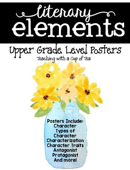 Literary Elements: Posters for Upper Grades {Mason Jar Edition}