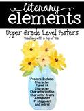 Literary Elements: Posters for Upper Grades {Mason Jar Edition}