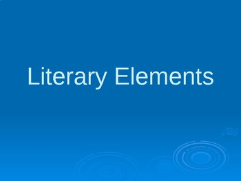 Literary Elements Power Point
