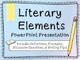 Literary Elements PowerPoint Presentation {Story Elements