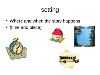 Literary Elements PowerPoint for ESL and Regular Students