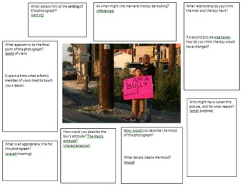 Literary Elements Practice through Bullying-Themed Pictures