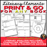 Literary Elements Print & Go for ANY Book or Story