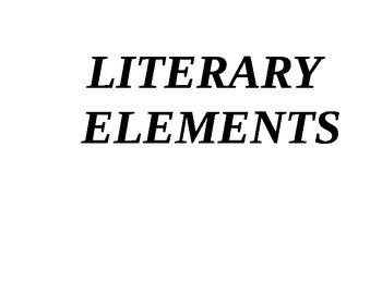 Literary Elements Prompts