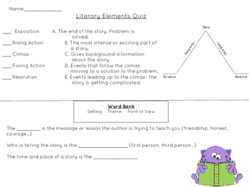 Literary Elements Quick Quiz