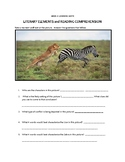 Literary Elements, Reading Comprehension and Writing Worksheet