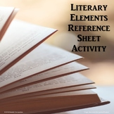 Literary Elements Reference Sheet Activity