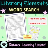 Literary Elements Word Search - Review - Plot Terms - Vocabulary - Conflict