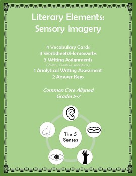 Literary Elements - Sensory Imagery Resources