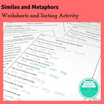 Metaphor Worksheet Teaching Resources Teachers Pay Teachers