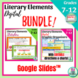 Literary Elements Slideshow & Graphic Organizers for Any N