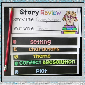 Literary Elements Story Review Flipbook