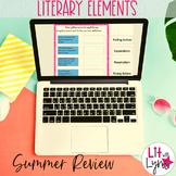 LITERARY ELEMENTS SUMMER REVIEW | DIGITAL & PRINTABLE  |