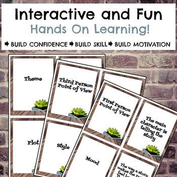 Literary Elements Task Card Review Game