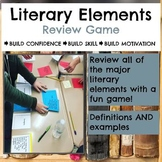 Literary and Poetic Elements Task Card Review Game, Editable