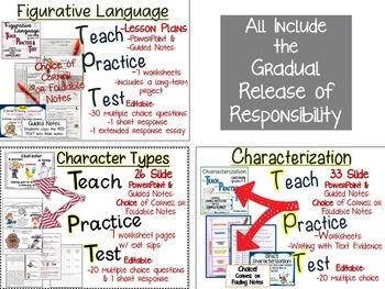 LITERARY ELEMENTS: TEACH, PRACTICE, TEST BUNDLE