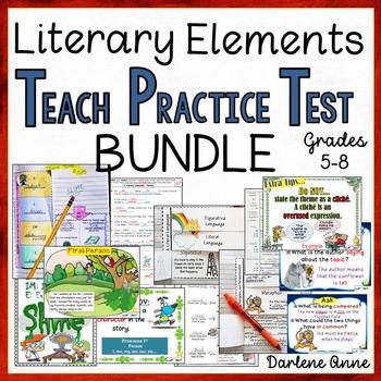 LITERARY ELEMENTS UNITS: TEACH, PRACTICE, TEST BUNDLE- MIDDLE SCHOOL ENGLISH