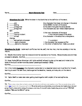Literary Elements Test
