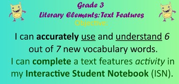 Literary Elements: Text Features