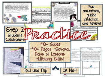 TEACHING THEME POWER-POINT & NOTES: TEACH, PRACTICE, TEST- MIDDLE SCHOOL ENGLISH
