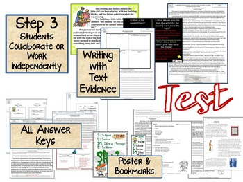 theme unit powerpoint & notes: teach, practice, test- middle, Powerpoint templates