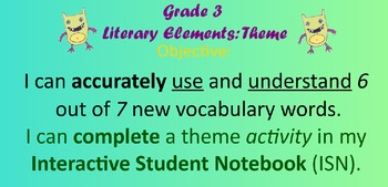 Literary Elements: Theme and Illustrations