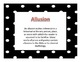 Literary Elements Vocabulary Posters
