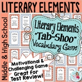 Literary Elements ELA Test Review Game - Tab-shoo Middle & High School Editable
