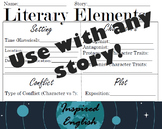 Literary Elements Worksheet - Use with any Story!