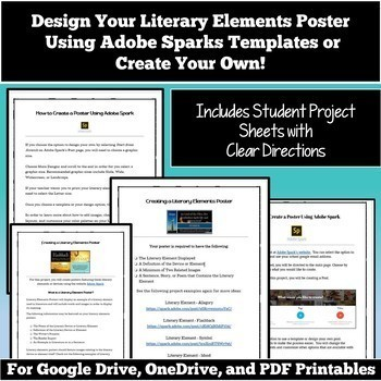 Literary Devices And Literary Elements Posters Technology Posters
