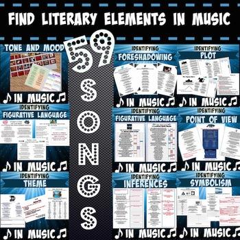 Literary Elements in Songs (59 songs!)