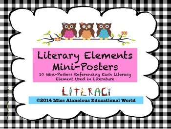 Literary Elements of a Story Mini-Posters