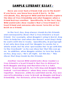 Narrative essay about true friendship