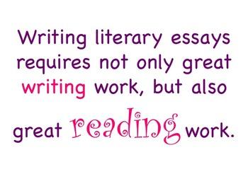 Literary Essay - A TC Aligned Fiction Writing Unit