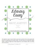 NIGHT Writing Practice (Memoir by Elie Wiesel) - (Literary Essay - Common Core)