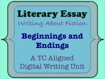 Literary Essay - Beginnings and Endings