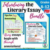 Literary Analysis Essay Bundle: Annotations, Essay Samples