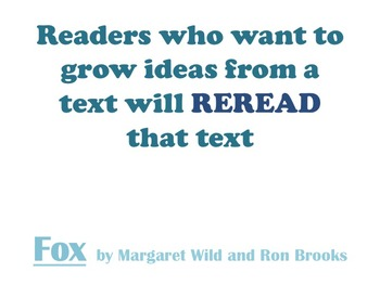 Literary Essay - Close Reading to Generate Ideas about a Text