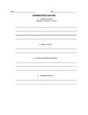Literary Essay Graphic Organizer: Introduction