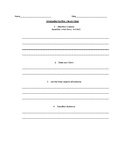Literary Essay Graphic Organizer: Introduction