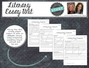 Literary Essay Writing Unit - Instruction and Practice (COMMON CORE ALIGNED)