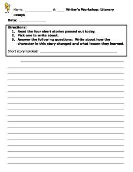Literary Essay Introduction Activity